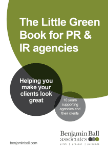 PR agency free guide for media training pitch coaching